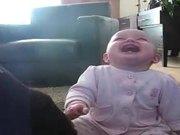Baby Laughing At Dog Eating