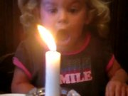 Little Girl Vs Candle