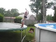 Trampoline To Pool Fail
