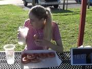 Skinny Girl Eating 50 Donuts