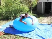 Slow Mo Guys Popping Huge Balloon