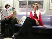 Fake Book Covers On The Subway