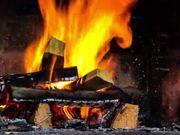 Log Fire Timelapse