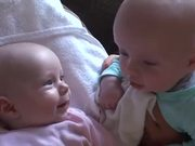 Twins Having A Serious Talk
