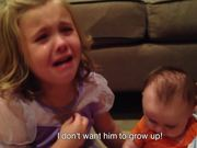 Little Girl Wants Her Brother To Stay Small