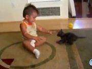 Cats Loving Babies