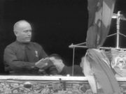 Mussolini Addressing Huge Crowd In Rome
