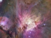 Zooming on the Orion Nebula