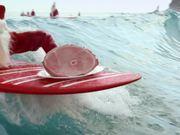 ALDI Ad: Surfing Santas