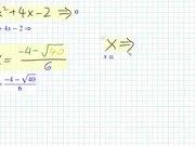 Quadratic Formula and the Discriminant