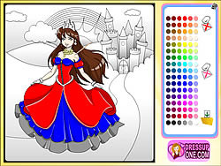 Castle Of Princess Coloring Game Game - Play online at Y8.com