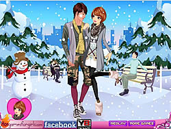 Winter Couple Dating