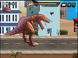 T-Rex Rampage: Prehistoric Pizza