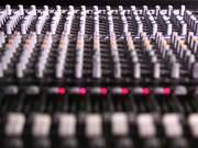 Mixing Desk Pull Focus in Macro View