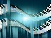 Double Flowing Piano Keys