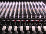 Mixing Desk Pull Focus in Macro View