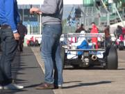 Race Cars Leaving Grid