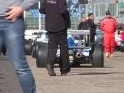 Race Cars Leaving Grid