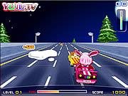 Yuju розовый автомобиль
