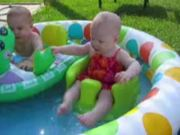 Backyard pool kids