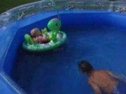Backyard pool kids