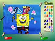 Spongebob With Jelly Fish