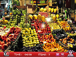 Hidden objects Fruits Shop