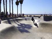 Several Skateboarders Attempting Big Tricks