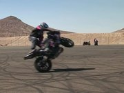 Motorcycle Rider Doing Tricks