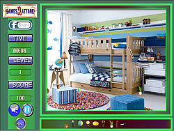 Cute Boys Room Hidden Objects