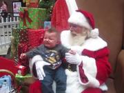 Baby Sees Santa For The First Time And Cries!
