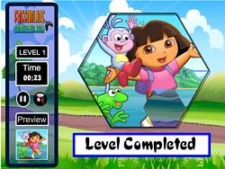 Dora Fix the Puzzle Game