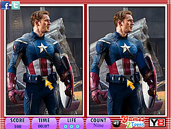 10 Differences - Captain America