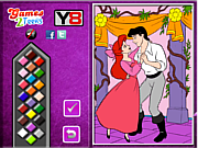 Princess Ariel  and Eric Online coloring