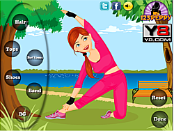 Fitness Girl Dress Up game