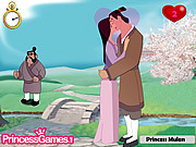 Princess Mulan Kissing Prince