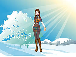 Sun Snow Dressup