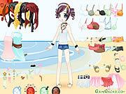 Пляж кукла одеваются