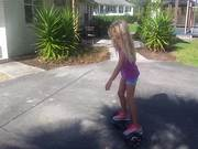 Violet On Hoverboard