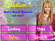 Play Hannah montana trivia Game