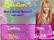 Hannah Montana Trivia game