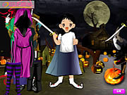 Play Halloween cute dressup Game