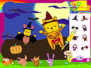 Piglet and Pooh on Halloween game