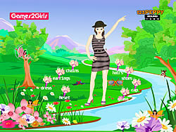 Amanda Girl Dressup game