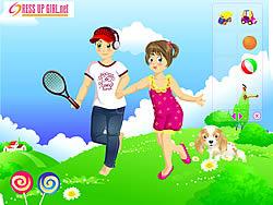 Gioca gratuitamente a Kids Couple on Field