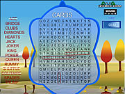 Word search gameplay 4 cards Spiele