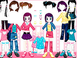 Little Twin Dress up game