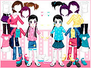 Play Little twin dress up Game