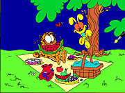 Play Garfield online coloring Game