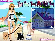 Play Dog walking dress up Game